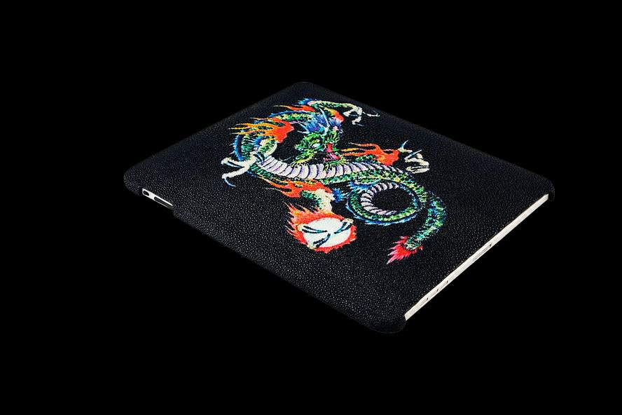 MJ Apple iPad Limited Edition with Tuning Case from Genuine Exotic Leather Stingray Dragon Edition