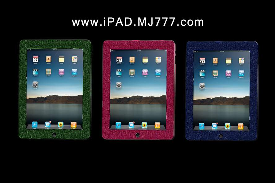 Unique Royal Apple iPad Gems MJ Limited Edition. Professional Handmade Inlay. Luxury Models from Emeralds, Rubies, Blue Sapphires & Color Brilliants